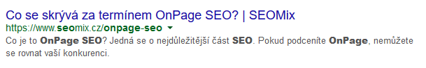OnPage Meta a Title